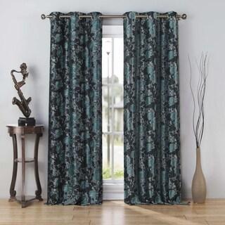 "Kensie Nellie Jacquard Curtain Panel Pair - 76x112"""