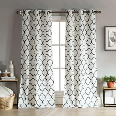 Duck River Mason Linen Look Curtain Panel Pair