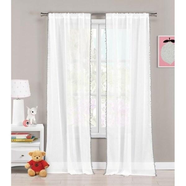 Shop Lala Bash Aveline Trim Curtain Panel Pair With Pom