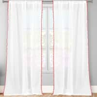 Lala+Bash Aveline Trim Curtain Panel Pair With Pom Pom Tie Back