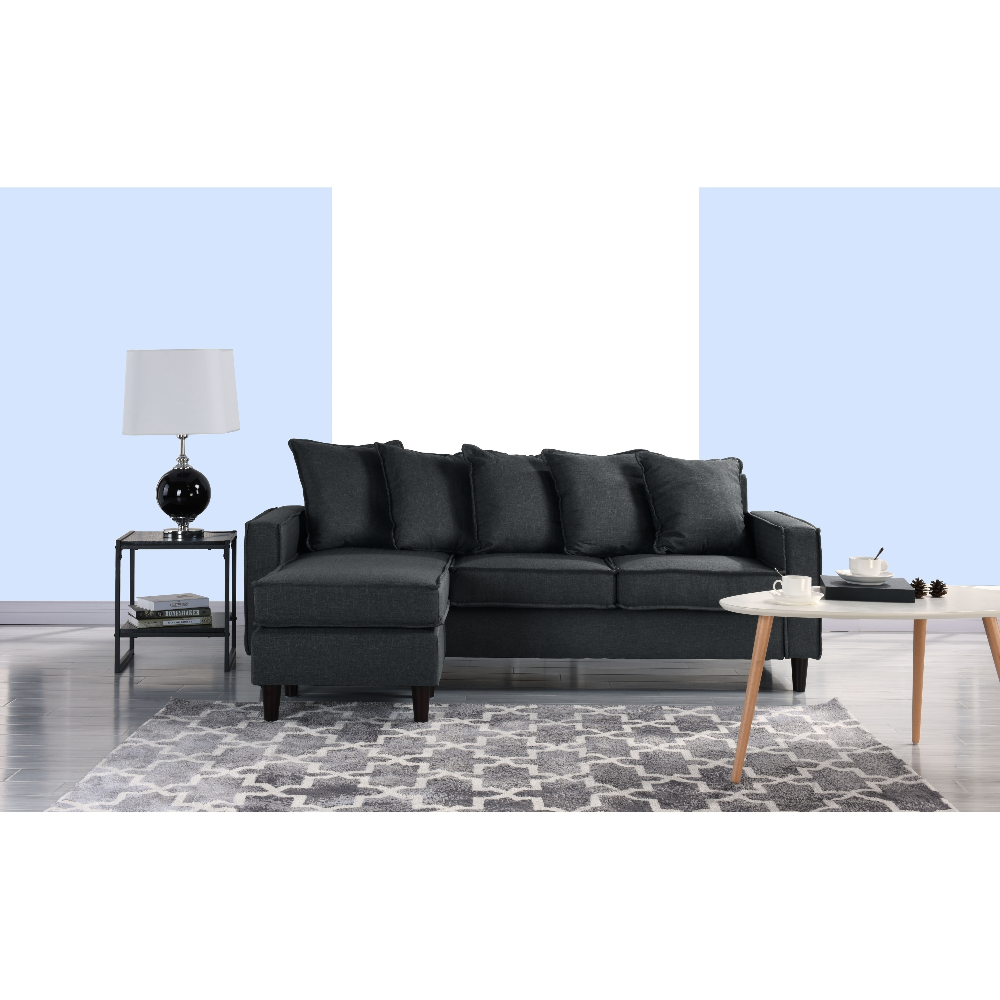 Pleasing Modern Sectional Sofa Small Space Configurable Couch Machost Co Dining Chair Design Ideas Machostcouk