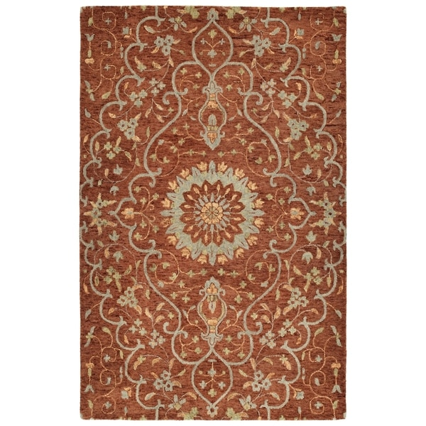 Bombay Home Ashton Brick Wool Hand-tufted Area Rug (9' x 12')