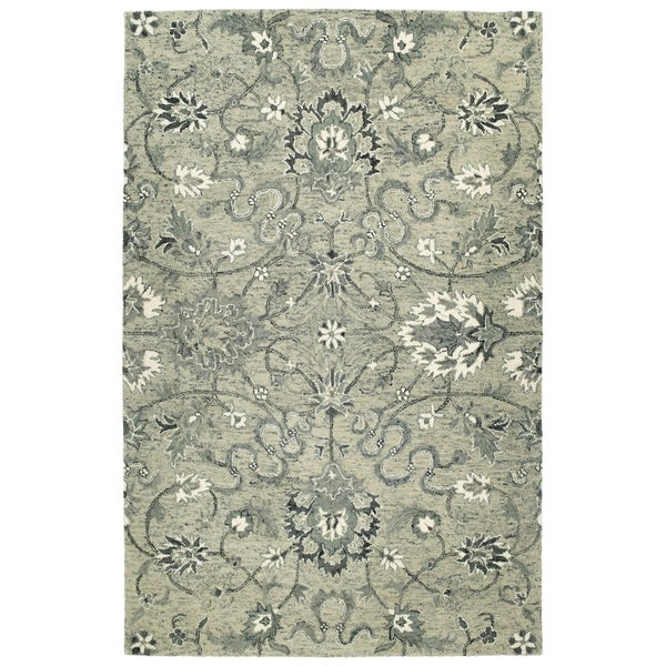 Bombay Home Ashton Collection Hand-tufted Grey/Multicolored Wool Indoor Rectangular Rug (9' x 12')