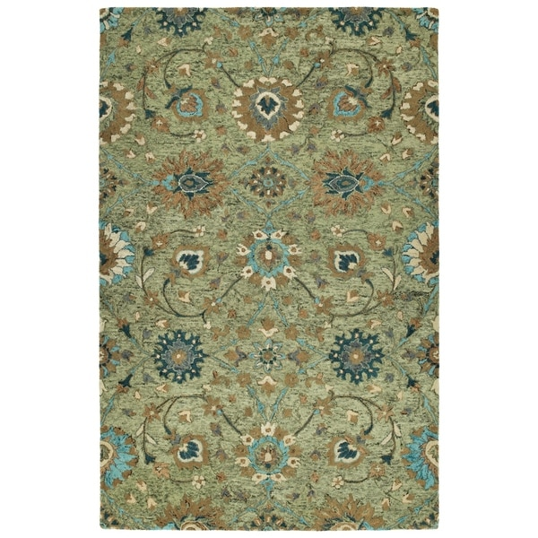 Bombay Home Ashton Sage Wool Hand-tufted Rug - 10' x 14'