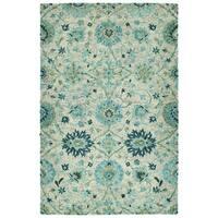 Bombay Home Ashton Turquoise Wool Hand-tufted Rug (10' x 14')
