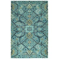 Bombay Home Ashton Blue Wool Hand-tufted Area Rug - 9' x 12'