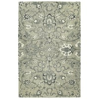 Hand-Tufted Ashton Grey Wool Rug - 10' x 14'