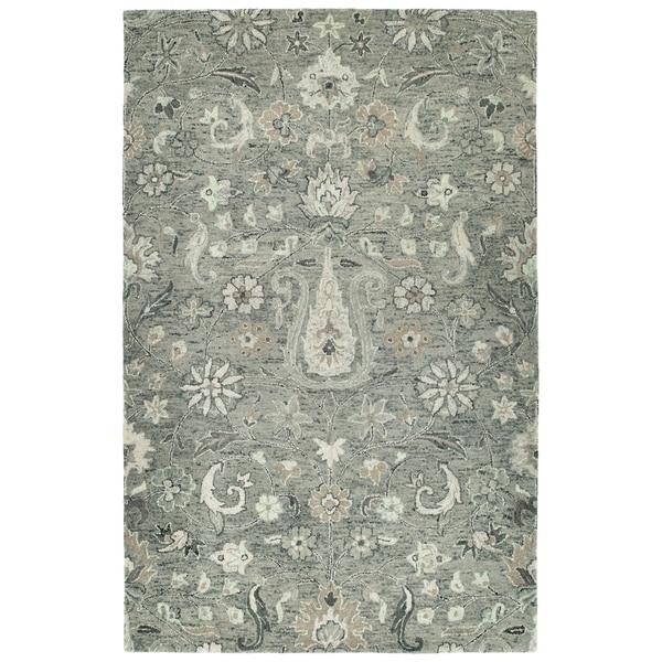 Bombay Home Ashton Grey Wool Hand-tufted Rug (9' x 12')