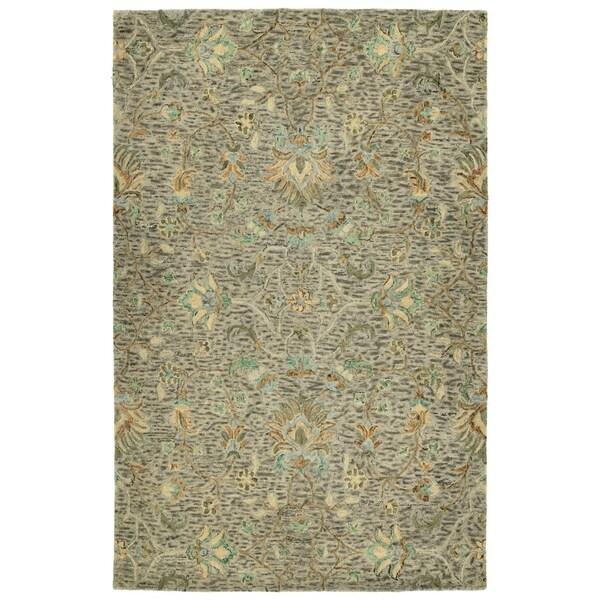 Hand-Tufted Ashton Taupe Wool Rug - 9' x 12'