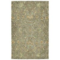 Hand-Tufted Ashton Taupe Wool Rug - 9' x 12'