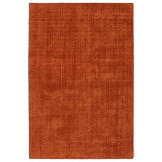 Indoor/Outdoor Handmade Tula Rust Polyester Rug - 9' x 12'