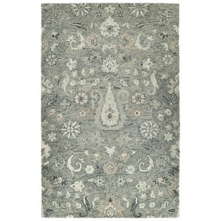 Hand-Tufted Ashton Grey Wool Rug - 10' x 14'