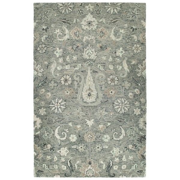 Bombay Home Ashton Collection Hand-tufted Grey/Multicolored Indoor Rectangular Rug (10' x 14')