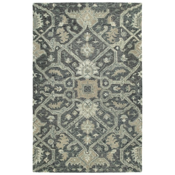 Shop Hand Tufted Ashton Graphite Wool Rug 9 X 12 On Sale