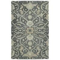 Bombay Home Ashton Graphite Wool Hand-tufted Area Rug (9' x 12')