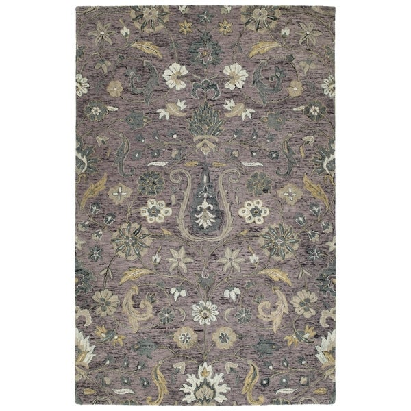 Hand-Tufted Ashton Lilac Wool Rug - 9' x 12'
