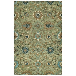 Hand-Tufted Ashton Sage Wool Rug - 9' x 12'