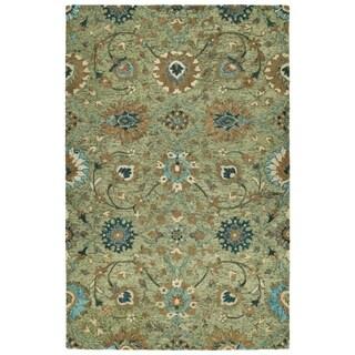 Hand-Tufted Ashton Sage Wool Rug - 9' x 12'