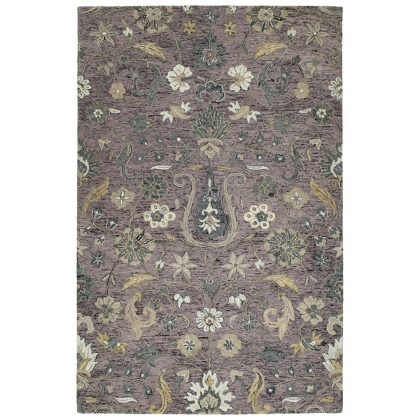 12 10 X 14 11 Persian Karajeh Hand Knotted Wool: Shop Hand-Tufted Ashton Lilac Wool Rug