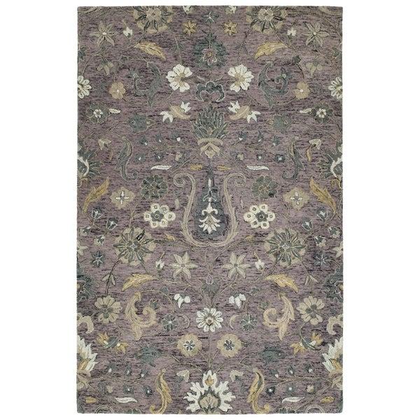 Hand-Tufted Ashton Lilac Wool Rug - 10' x 14'