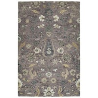 Hand-Tufted Ashton Lilac Wool Rug - 10' x 14'