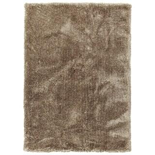 Bombay Chino Khaki Hand-tufted Silky Shag Area Rug (9' x 12')