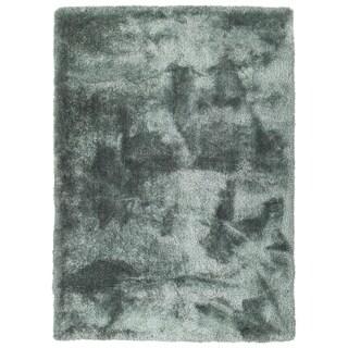 Hand-Tufted Silky Shag Mint Polyester Rug - 9' x 12'