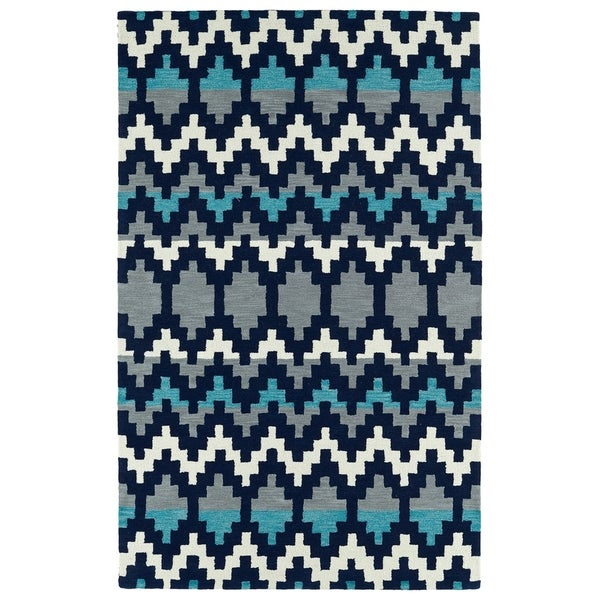 Hand-Tufted Copal Navy Wool Rug - 9' x 12'