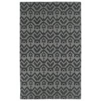 Hand-Tufted Copal Grey Wool Rug - 9' x 12'
