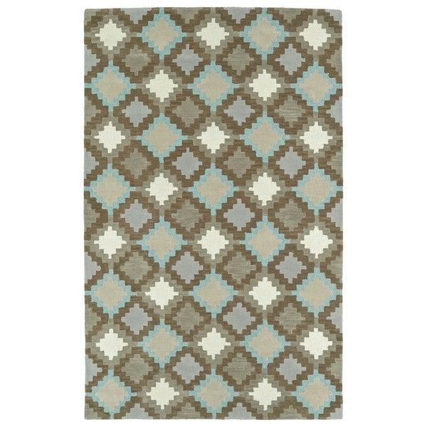 Hand-Tufted Copal Grey Wool Rug - 9' x 12'