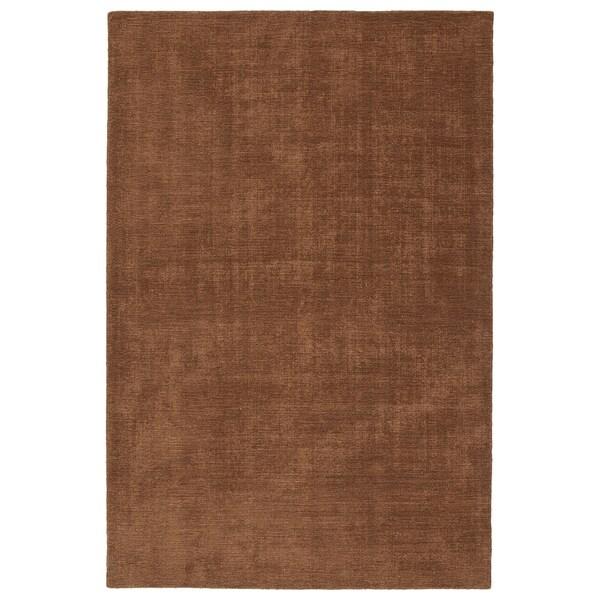 Indoor/Outdoor Handmade Tula Light Brown Polyester Rug - 9' x 12'