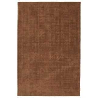 Indoor/Outdoor Handmade Tula Light Brown Polyester Rug - 9' x 12'