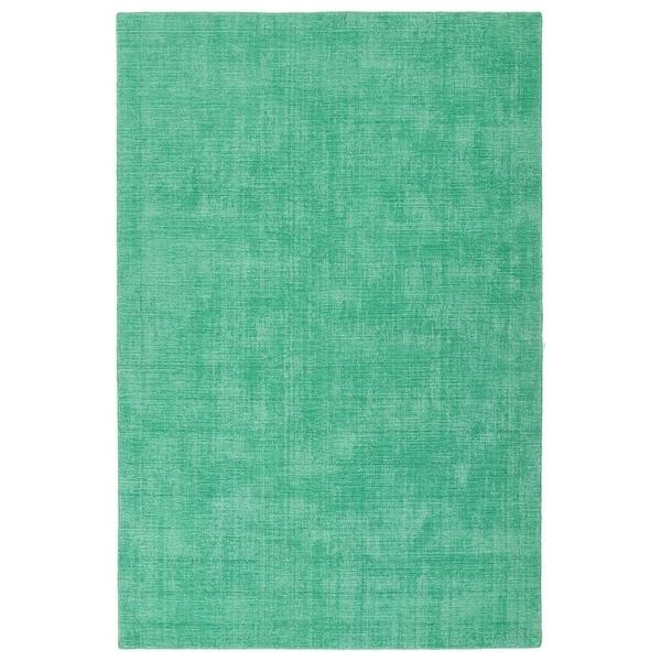 Indoor/Outdoor Handmade Tula Mint Polyester Rug - 9' x 12'