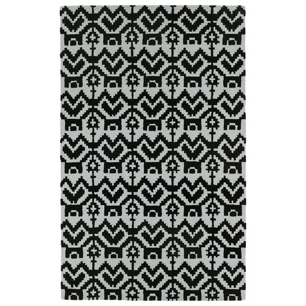 Hand-Tufted Copal Black Wool Rug - 9' x 12'