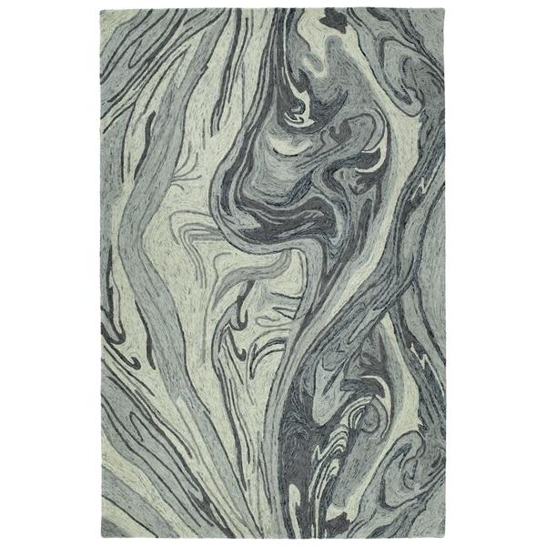 Hand-Tufted Artworks Grey Wool Rug - 9'6 x 13'