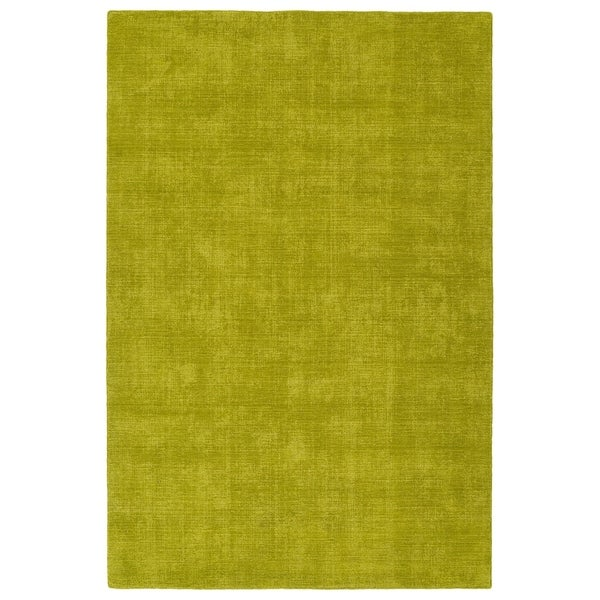 Indoor/Outdoor Handmade Tula Lime Green Polyester Rug - 9' x 12'