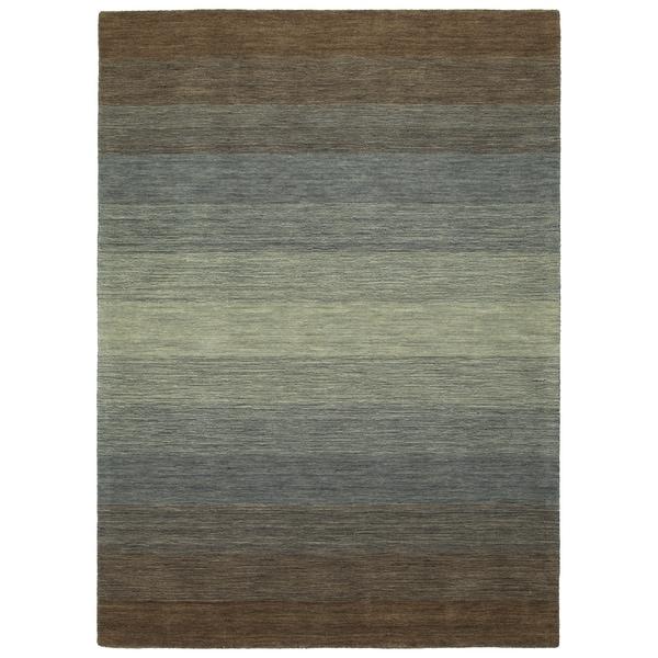 "Hand Made Blends Brown Wool Rug - 9'6"" x 13'"