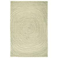 Hand-Tufted Brantley Green Wool Rug - 9' x 12'