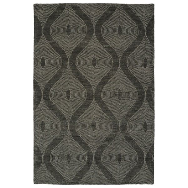 Hand-Tufted Brantley Charcoal Wool Rug - 9' x 12'