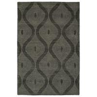 Hand-Tufted Brantley Charcoal Wool Rug - 9' x 12'