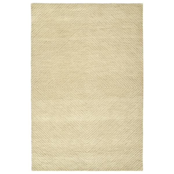 Shop Hand Tufted Brantley Sand Wool Rug 9 X 12 On Sale Free