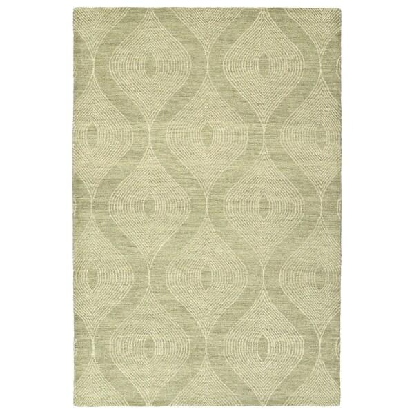 Hand-Tufted Brantley Sage Wool Rug - 9' x 12'