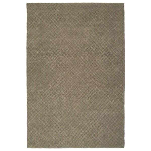 Hand-Tufted Brantley Grey Wool Rug - 9' x 12'