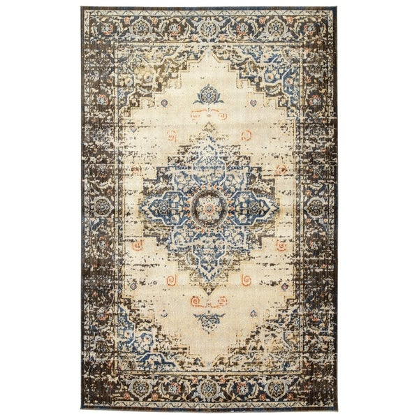 Machine-Made Loki Blue Polypropylene Rug - 9'2 x 12'6
