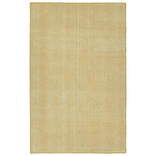 Indoor/Outdoor Eden Chevron Gold Polyester Rug - 9' x 12'
