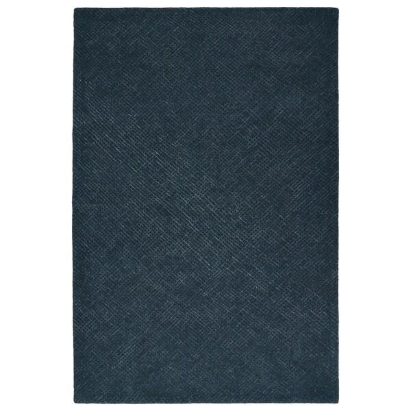 Hand-Tufted Brantley Denim Wool Rug - 9' x 12'