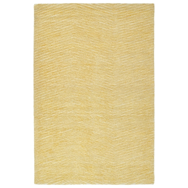 Hand-Tufted Brantley Gold Wool Rug - 9' x 12'