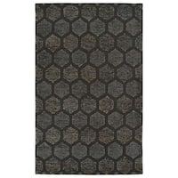 Hand-Tufted Homa Chocolate Wool Rug - 8' x 10'