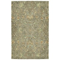 Hand-Tufted Ashton Taupe Wool Rug - 8' x 10'