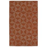 Hand-Tufted Homa Paprika Wool Rug - 8' x 10'